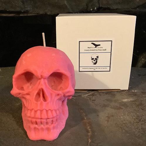 Apple Strudel Red Skull Candle