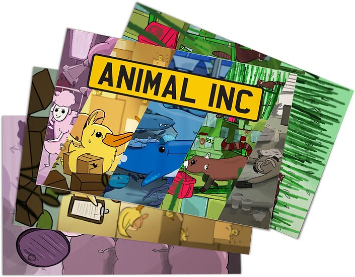 Animal Inc Postcard Set