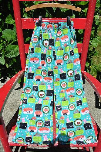 Sushi kids pajama pants size 4