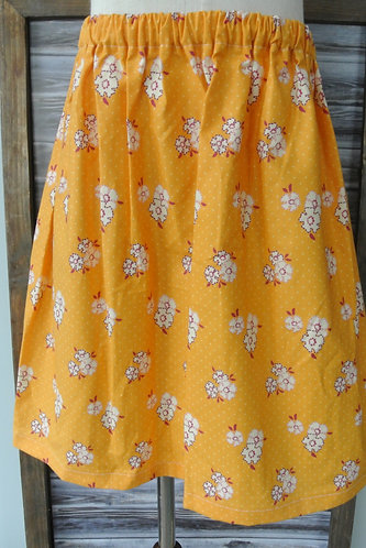stitched flowers skirt size 8
