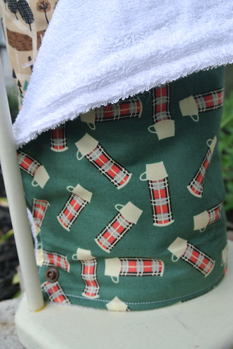 Plaid thermos & Campground re-useable towel set