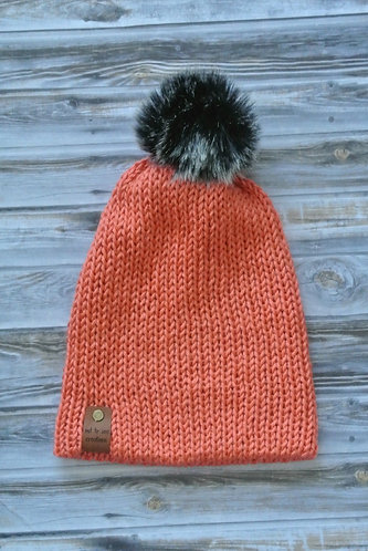 persimmon knitted beanie