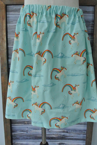 unicorns & rainbows skirt size 6