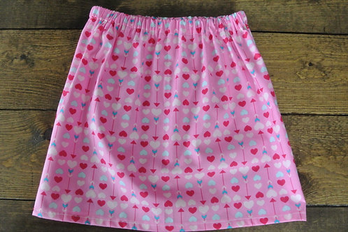pink hearts skirt size 4