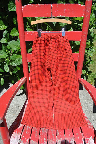 Red & black checked kids pajama pants size 6