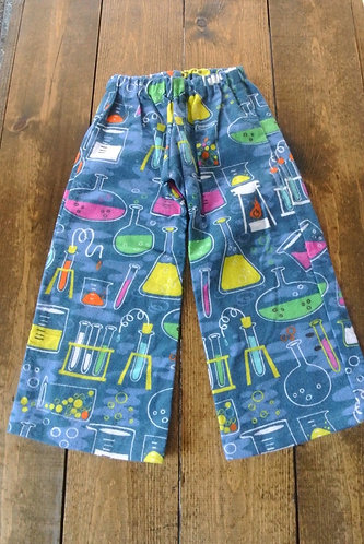 flannel science kids pajama pants