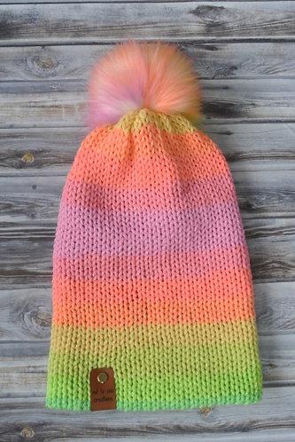 unicorn fluff knitted hat