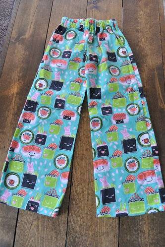 kawaii sushi kids pajama pants