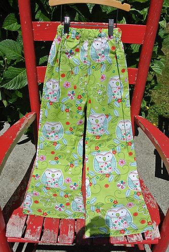 Owl kids pajama pants size 5