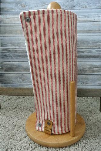 red ticking unpaper towel set