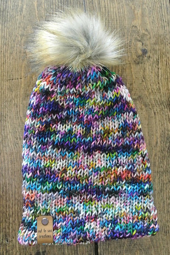box of crayons knitted beanie