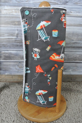 playful pugs unpaper towel set