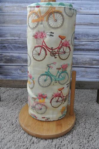 pretty bicycles unpaper towel set