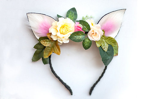 Ears Headband with Flowers