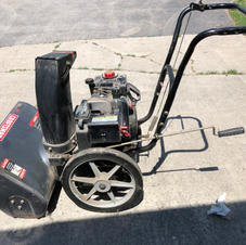 """Craftsman 5HP electric start 22"""" snow thrower with adjustable chute.  Good for up to 6"""" snow. Fresh oil change. Runs fine. Not self propelled. Minimum bid $100.  Comparable new $550 at Ace Hardware."""