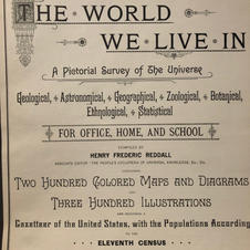 """""""The World We Live In"""" hard bound pictorial atlas, 1892.  (Image 2/2)"""
