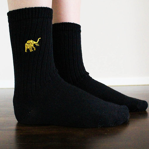 Women's Black LOOSE Socks