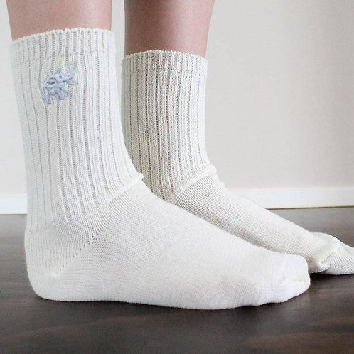 Women's White LOOSE Socks