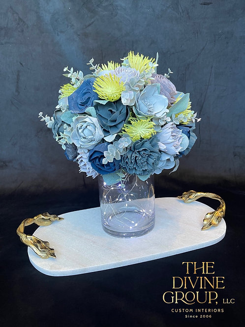 BLUE AND PURPLE VASE TOPPER