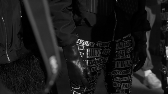 Purple Fashion Magazine   BEHIND THE SCENES AT MOSCHINO FETISH MEN'S F/W 2018 COLLECTION