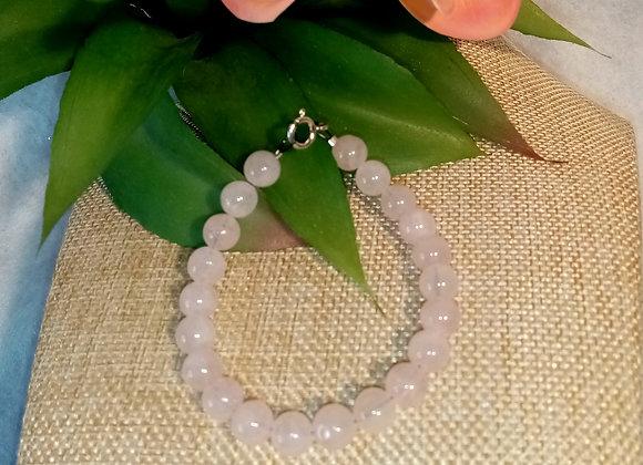 Bracelet câble Quartz rose