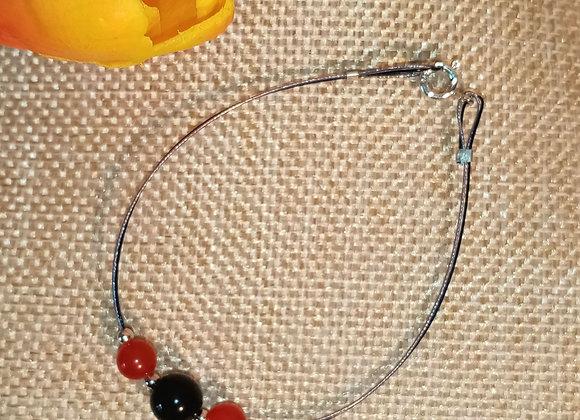 Bracelet Rubis et Onyx