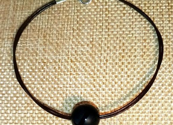Bracelet cuir et Onyx