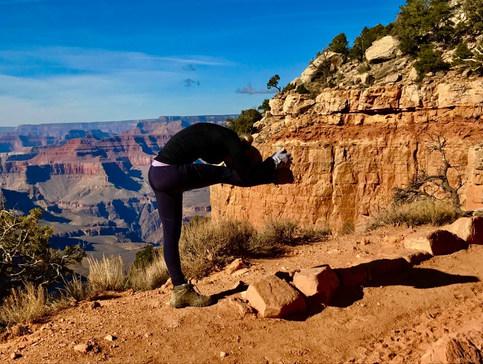 Dandayamana Janushirasana at the Grand Canyon