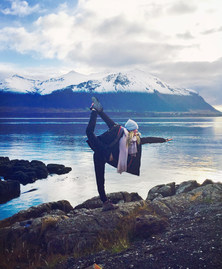 Dandayamana Dhanurasana in Iceland