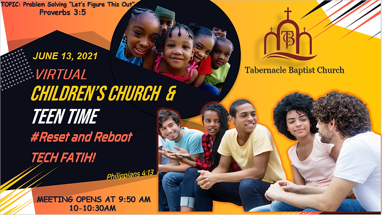 Children's Church and Teen Time