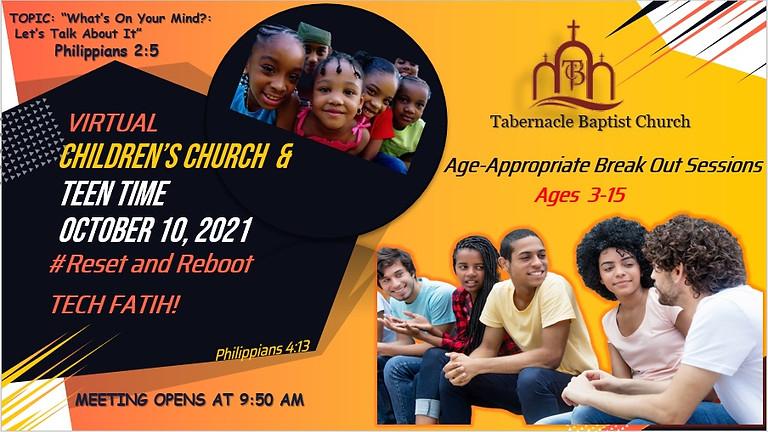 Virtual Children's Church and Teen Time