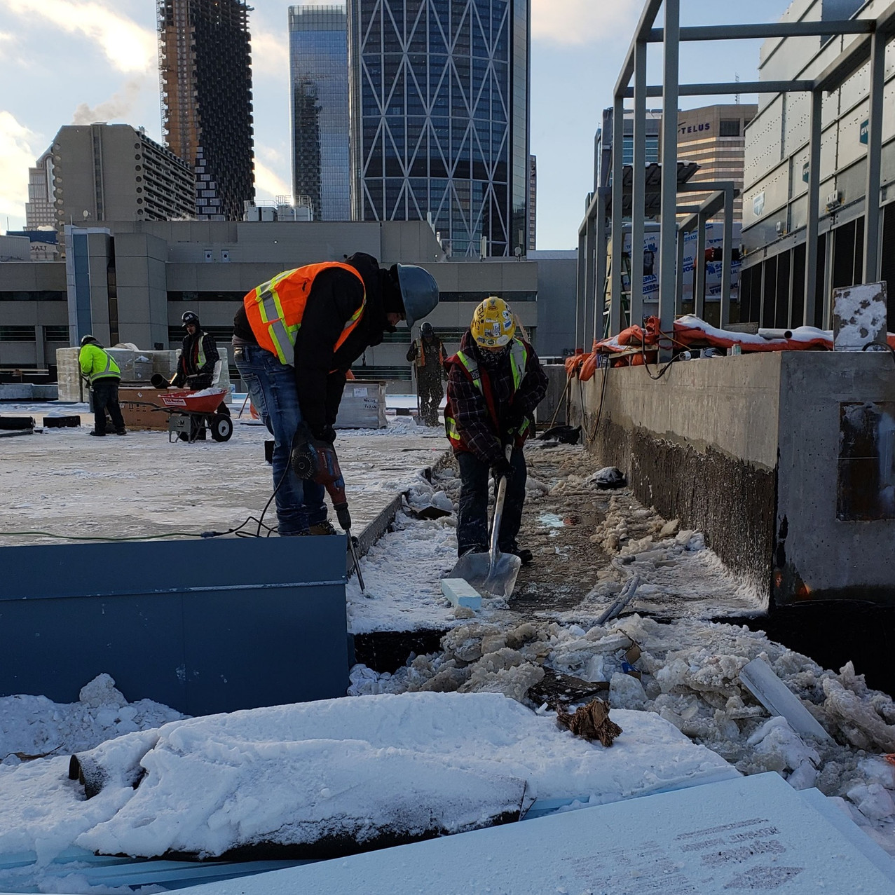 roof snow removal 2