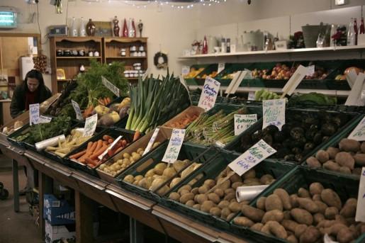 Local produce at Millers Farm Shop, East Devon