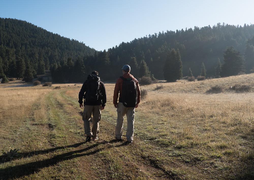 Hiking at Mt Mainalo