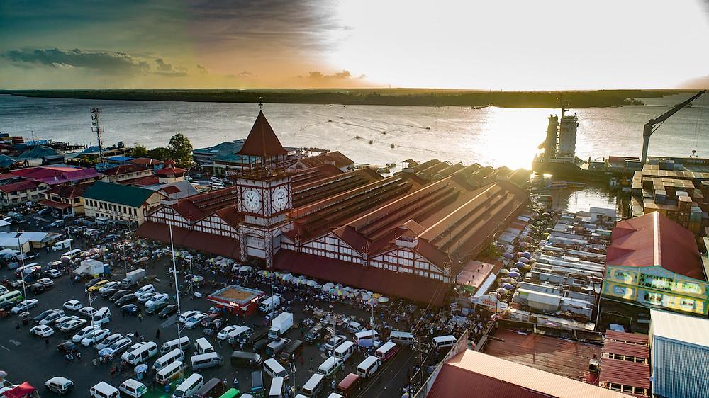 aerial of Stabroek Market, Georgetown, Guyana