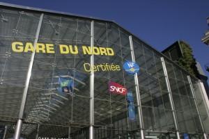 The entrance to Gare du Nord, Paris