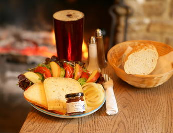 Pub food by log fire int he New Forest