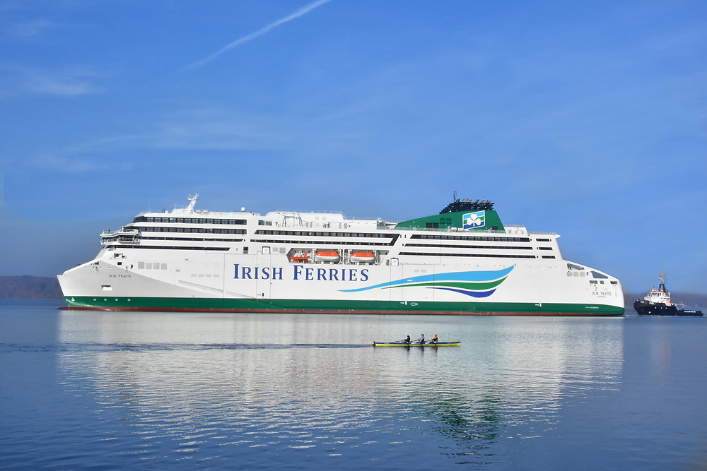 WB Yeats ferry arriving in to Dublin ferry port
