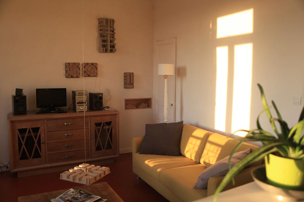 The lounge at Le gite du lievre de Mars