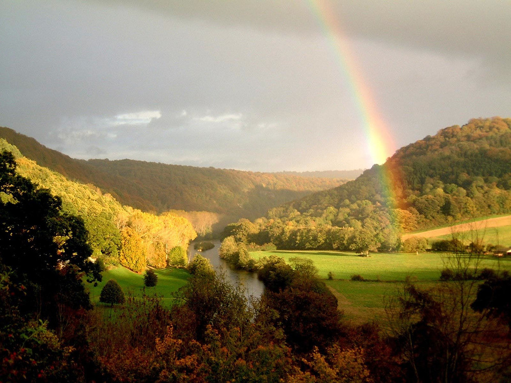 Rainbow in the Wye Valley