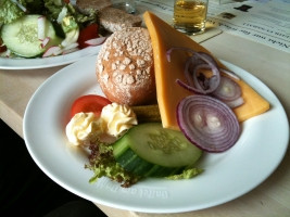Plate of cheese salad at Fruh am Dom, Cologne