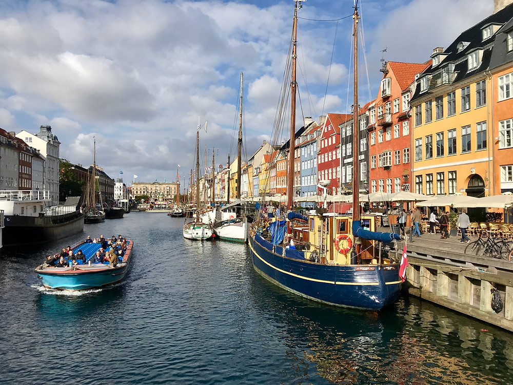 Boats at Nyhavn harbour, Copenhagen