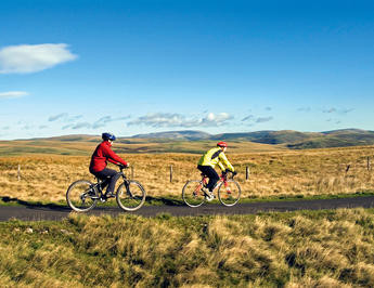 Cycling in Northumberland.