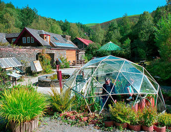 Domed greenhouse at the Centre for Alternative Technology