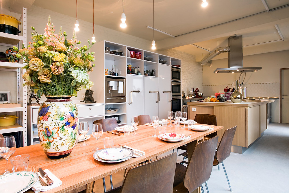 Dining table at Les Filles – Plaisirs Culinaires, Brussels