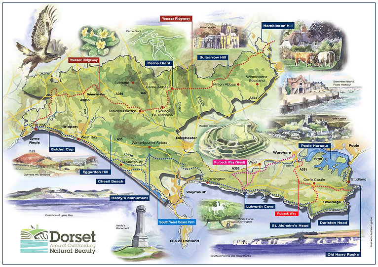 AONB A4 illustrated map new logo low res