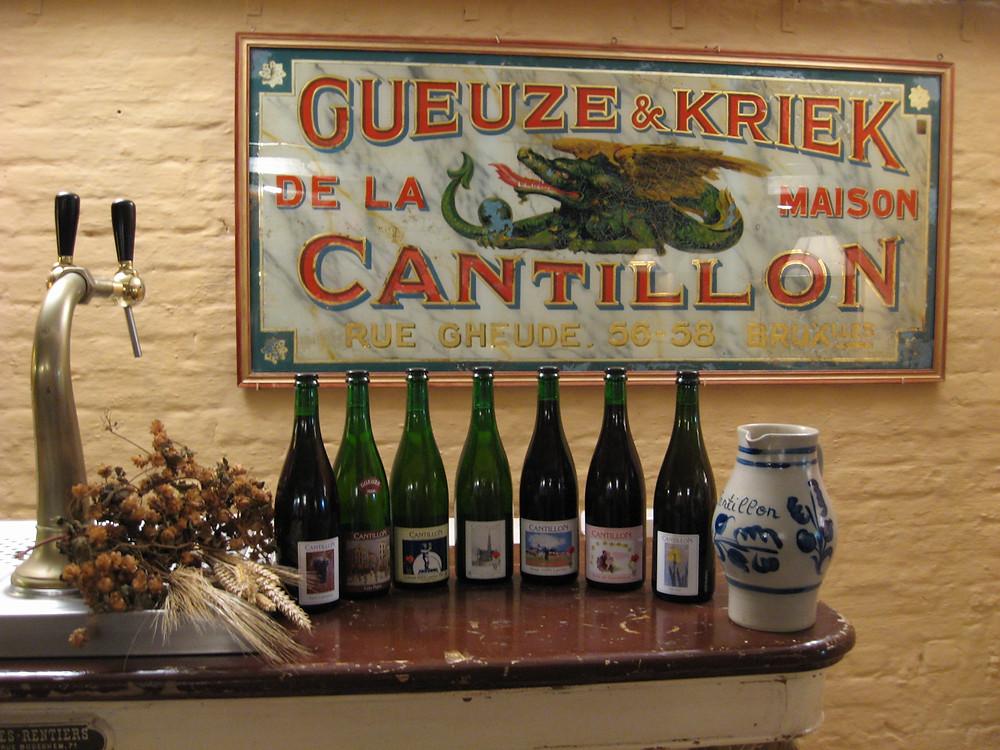 Bottles of wine at Brasserie Cantillon, Brussels