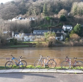 Cycling in the Wye Valley from Monmouth to Symonds Yat