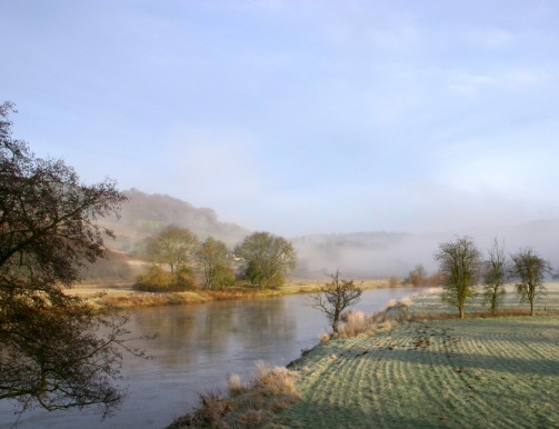 Early morning mist along the River Wye