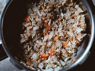 Pressure Cooker Farro Stew